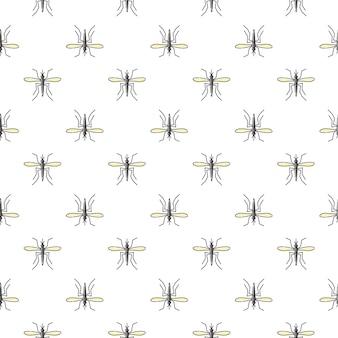 Nahtloses muster des moskitos für textildesign, tapete, packpapier