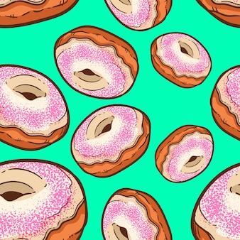 Nahtloses muster des netten donuts