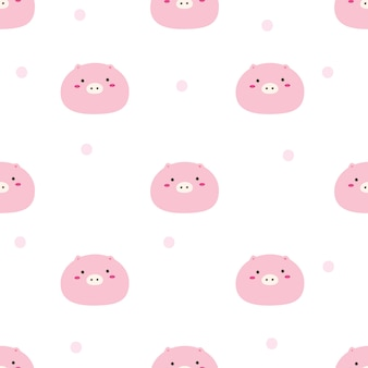 Nahtloses muster des netten schweins