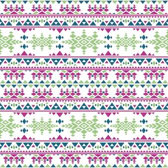 Nahtloses muster des peruanischen aztekischen vektors. mexikanische eingeborene sich wiederholende beschaffenheit der boho-art