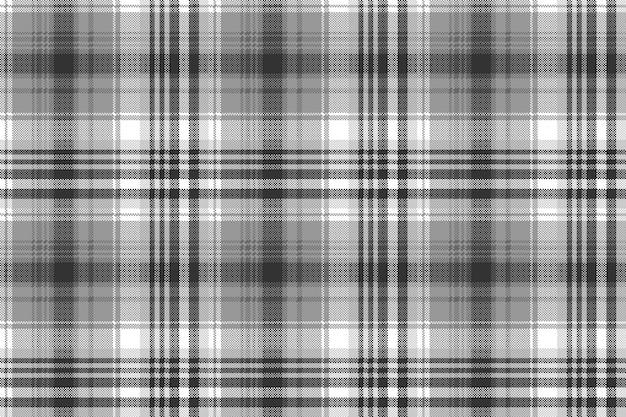 Nahtloses muster des pixelkontrollplaids des grauen schwarz-weiß