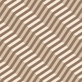 Nahtloses muster des retro- geometrischen diagonalen zickzacks - vektor