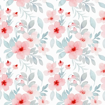 Nahtloses muster des rosa pastellblumen-aquarells