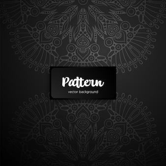Nahtloses muster des schwarzen mandalas. ethnisches dekoratives ornamentdesign.