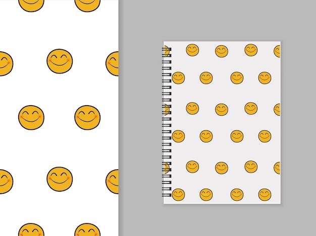 Nahtloses muster des smiley-emoticons