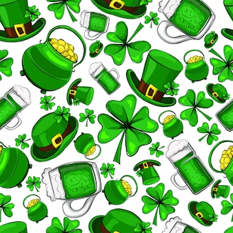 Nahtloses muster des st. patrick's day.