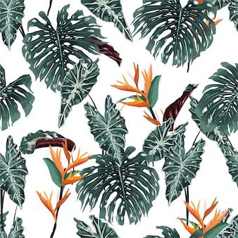 Nahtloses muster des tropischen waldes