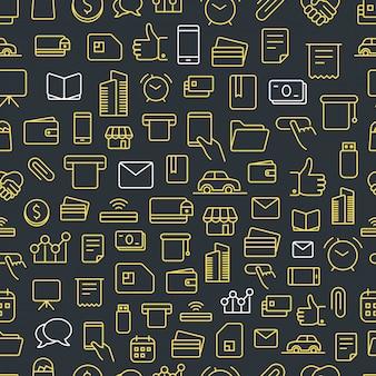 Nahtloses muster des unterschiedlichen netz-app-ikonenvektors