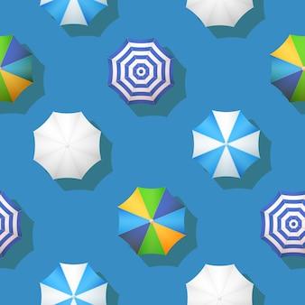 Nahtloses muster des vektorregenschirm-herbstwetters