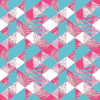 Nahtloses muster des weiblichen geometrischen dreieckzusammenfassung