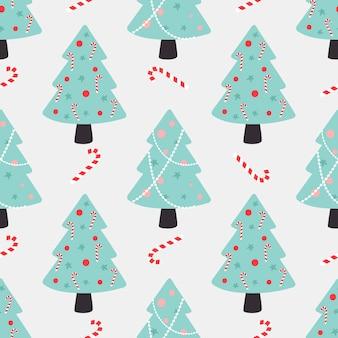 Nahtloses muster des weihnachtsbaums