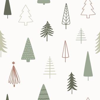 Nahtloses muster des weihnachtsjahreszeitvektors