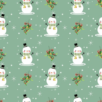 Nahtloses muster des weihnachtsmotivs