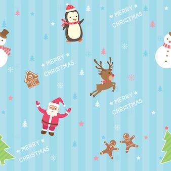 Nahtloses muster des weihnachtsstreifens