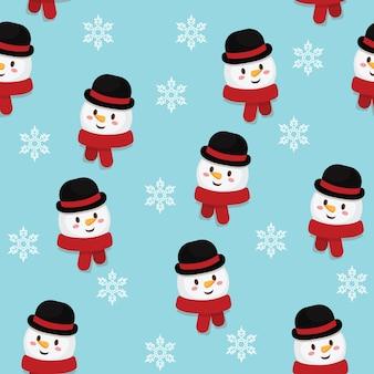 Nahtloses muster des weihnachtsvektors.