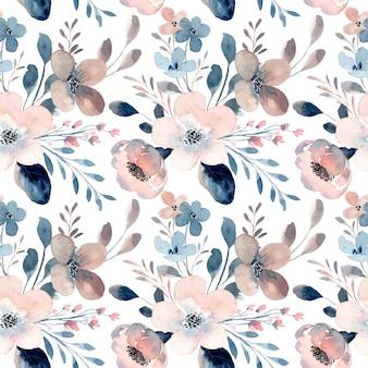 Nahtloses muster des weinleseblumenaquarells