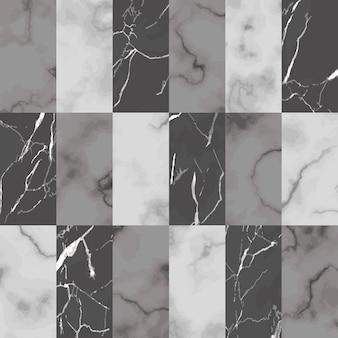 Nahtloses muster des weißen grauen und schwarzen ziegelsteinmarmors des vektors