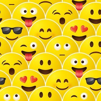 Nahtloses muster emoji