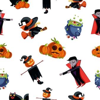 Nahtloses muster für halloween