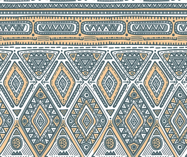 Nahtloses muster für stammes-design. geometrisches ethnisches motiv mit raute