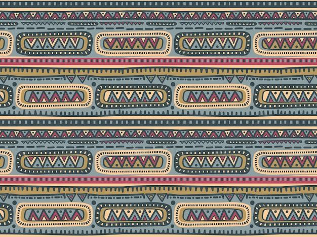 Nahtloses muster für stammes-design. geometrisches ethnisches motiv