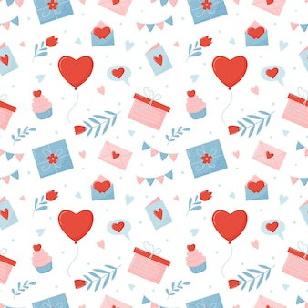 Nahtloses muster für valentinstag.