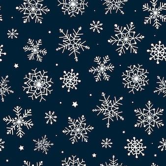 Nahtloses muster für winter- und weihnachtsdekor