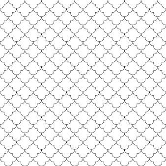 Nahtloses muster geometrisch schwarzweiss-hintergrund design für hintergrund