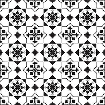 Nahtloses muster geometrisch. schwarzweiss-hintergrund.