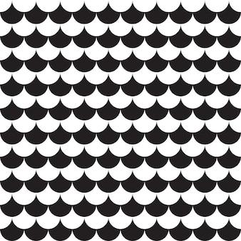 Nahtloses muster geometrisch. schwarzweiss-hintergrund