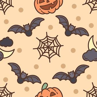Nahtloses muster glücklicher halloween-tag