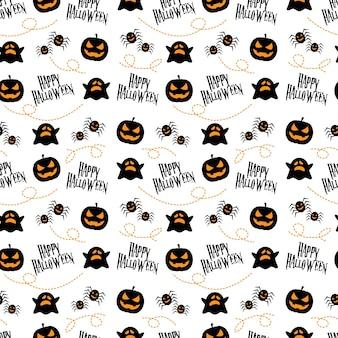 Nahtloses muster glückliches halloween