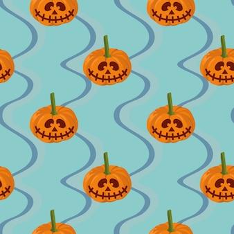Nahtloses muster halloween-fledermaus und -netzes