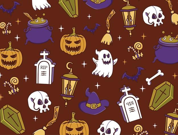 Nahtloses muster halloween