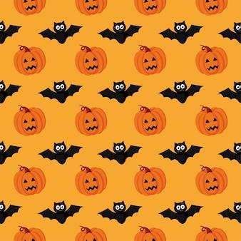 Nahtloses muster happy halloween
