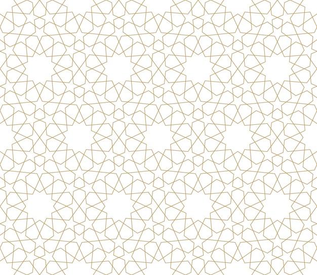 Nahtloses muster im authentischen arabischen illustrationsstil
