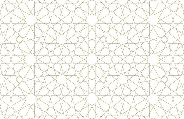 Nahtloses muster im authentischen arabischen stil. vektor-illustration