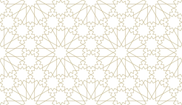 Nahtloses muster im authentischen arabischen stil.