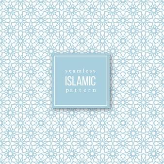 Nahtloses muster im islamischen traditionellen stil. blaue und weiße farben.