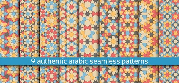 Nahtloses muster in der authentischen arabischen art