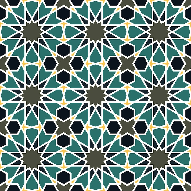 Nahtloses muster in der marokkanischen art