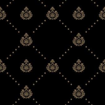 Nahtloses muster in schwarzer farbe. tapetendekoration kunst,