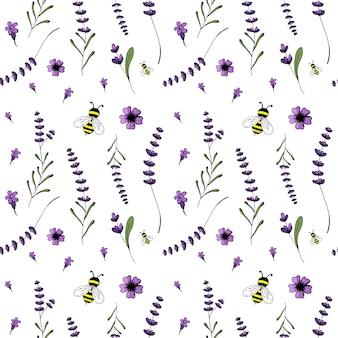 Nahtloses muster, lavendelthema der provence