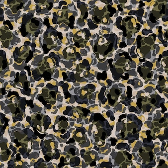 Nahtloses muster leopardenfell flach abstrakt styleskin künstlerische punktform