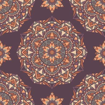Nahtloses muster mandala-vektordesign für den druck. stammes-ornament.