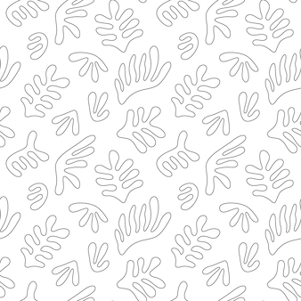 Nahtloses muster mit abstrakten handgezeichneten formen