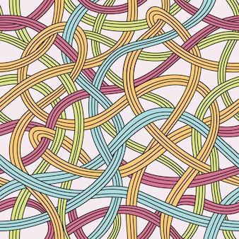 Nahtloses muster mit abstrakten wellen