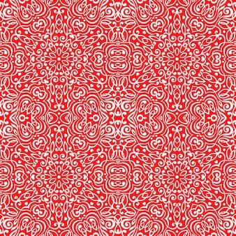 Nahtloses muster mit abstrakter ethnischer dekoration.