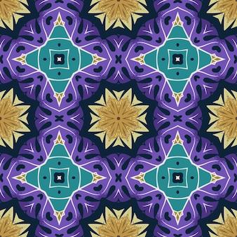 Nahtloses muster mit abstrakter mandala-zierarabeske