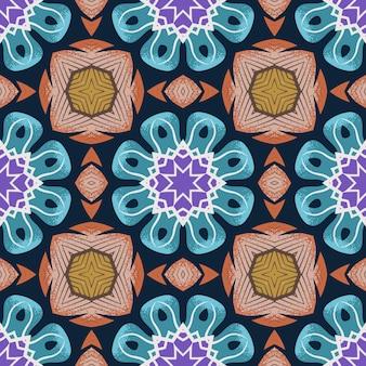 Nahtloses muster mit abstrakter mandala-zierarabeske.